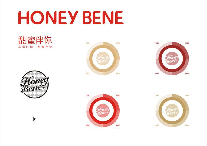 哈根达斯株洲直营店Hoeny bene标志设计