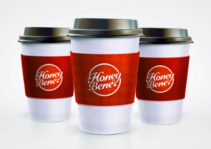 哈根达斯株洲直营店Hoeny bene奶茶杯、饮料杯设计